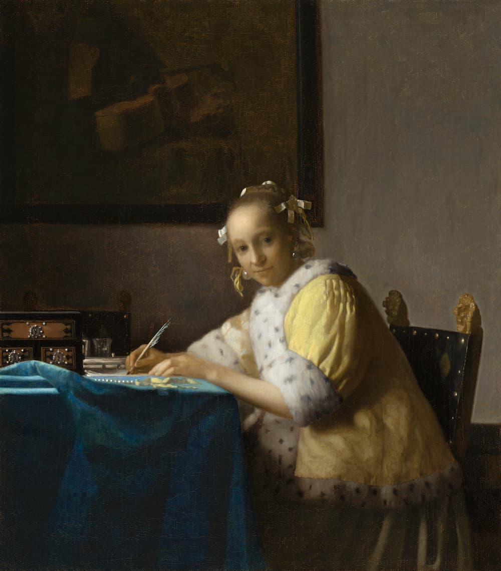 A Lady Writing a Letter by Johannes Vermeer / Rawpixel