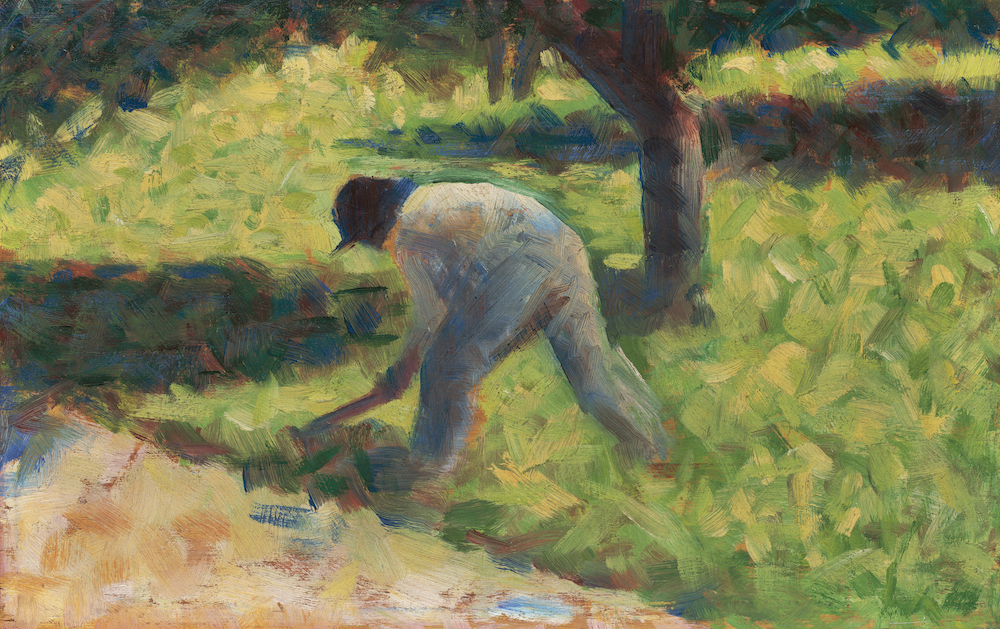 Peasant with a Hoe by Georges Seurat / Rawpixel
